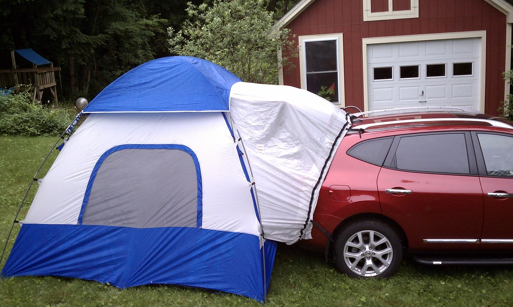 Hatch Tent | Backed the Rogue into the back yard and ...