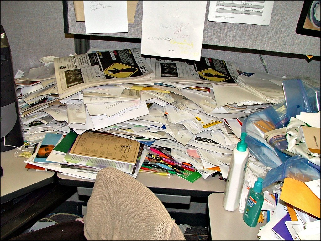 World's Messiest Office Cubicle Discovered in Colorado | Flickr