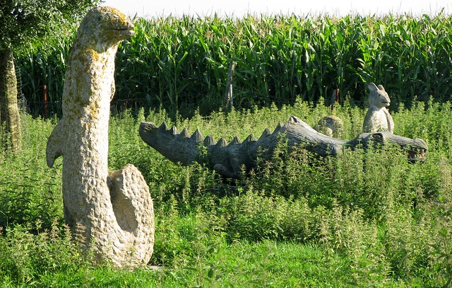 Strange animal sculptures