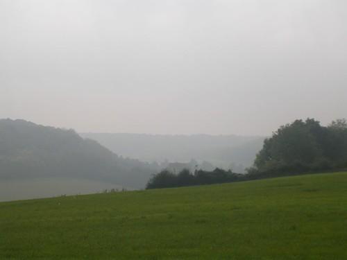 Misty scene Knockholt circular