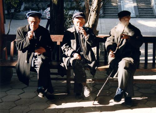old men Kunming, China   by whitecat sg