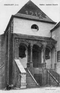Façade de la chapelle du couvent des Bernardines d'Orgelet