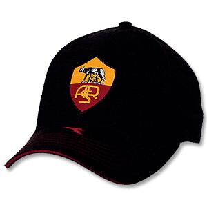 11193fdf67b9d ... diadora-04-05-as-roma-baseball-cap-black