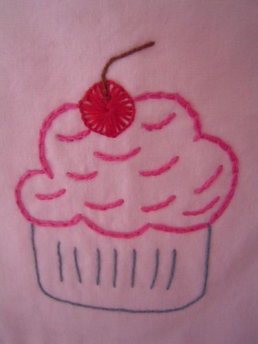 Cupcake embroidery detail | by multicrafty