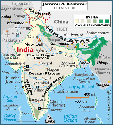 Indan Ocean Map Of India And Nepal on