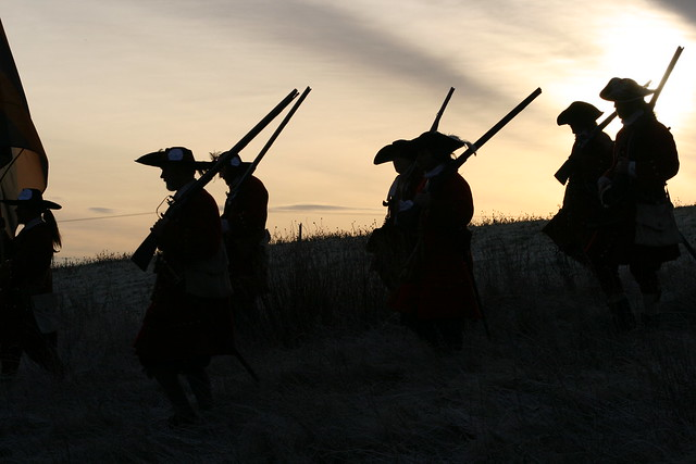 Jacobite Williamite Soldiers Silhouetted