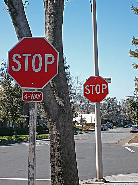 Two Stop Signs - Palo Alto