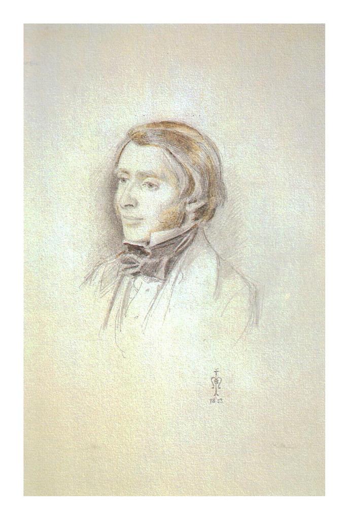 John Ruskin study by Millais 1853
