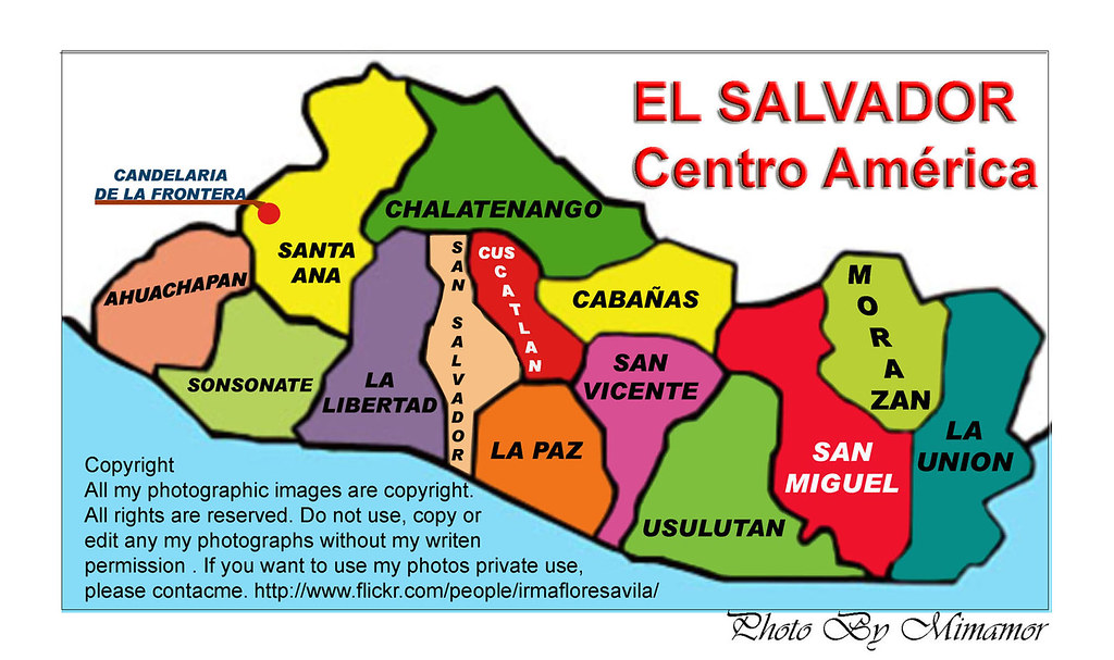 Mapa El Salvador Y Candelaria De La Frontera Copyright A Flickr