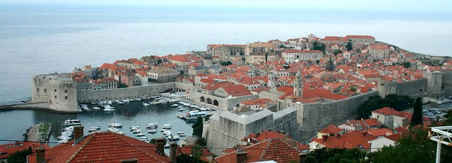 First view of Dubrovnik from my sobe's balcony