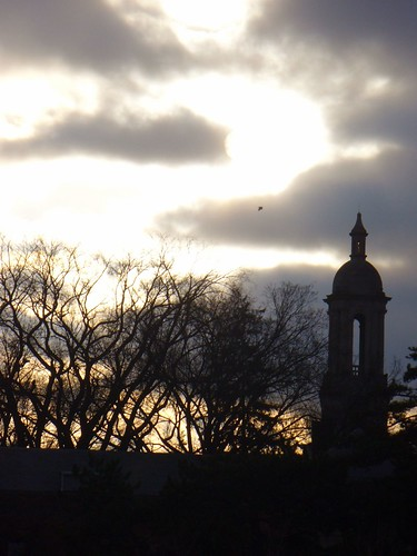trees sunset sun pennstate oldmain