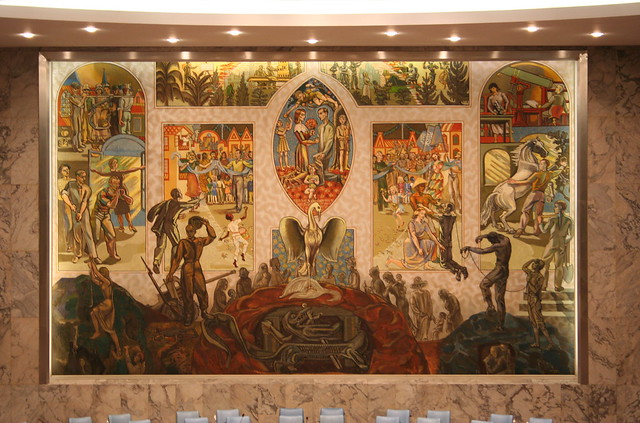 Security Council chamber mural