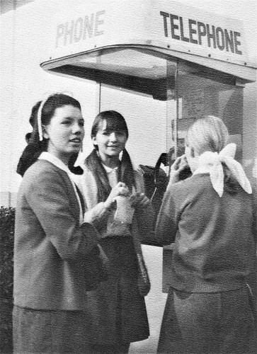 Competition for the Telephone at Pius X High School in Downey, CA 1969