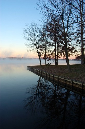 thanksgiving travel orange lake fog sunrise d50 virginia day clear lakeofthewoods