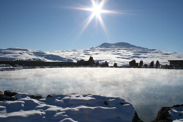 Sacred waterpool, Takht-e Soleiman