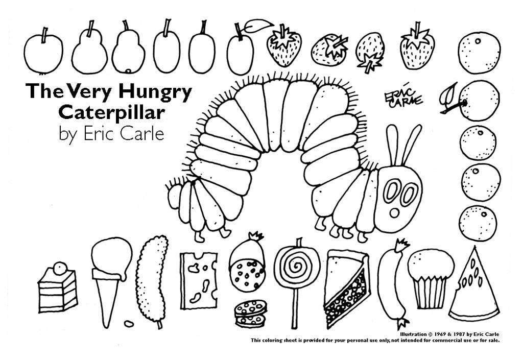 Very Hungry Caterpillar Coloring Sheet Matthew Tiffany Flickr