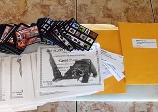 Cerfificados, postales, sobres y direcciones
