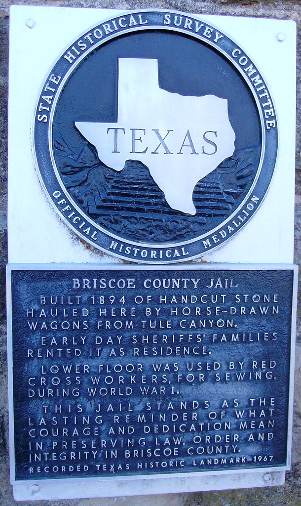 Old Briscoe County Jail Marker (Silverton, Texas) | Located