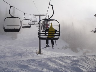 Banana on a chairlift | by Tom Olliver