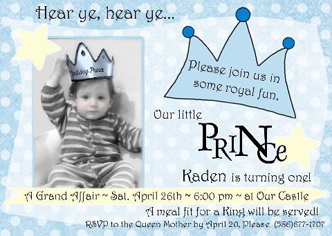 Lil Prince 1st Birthday Invitation Amyscustomgreetings Com Flickr