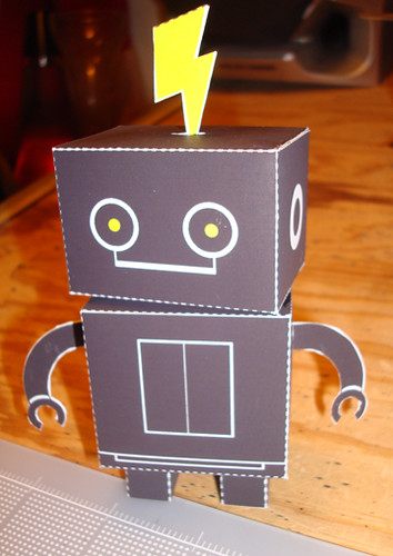 Replaced by Robots paper toy commish | by Custom Paper Toys