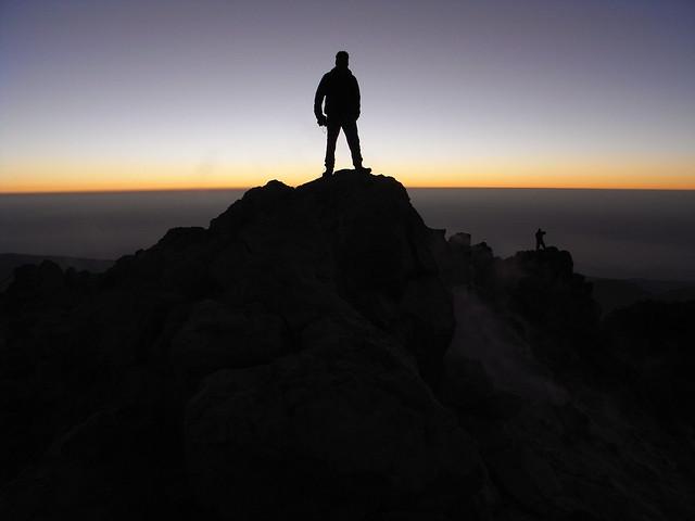 Sunrise on Pico de Teide, 3718m
