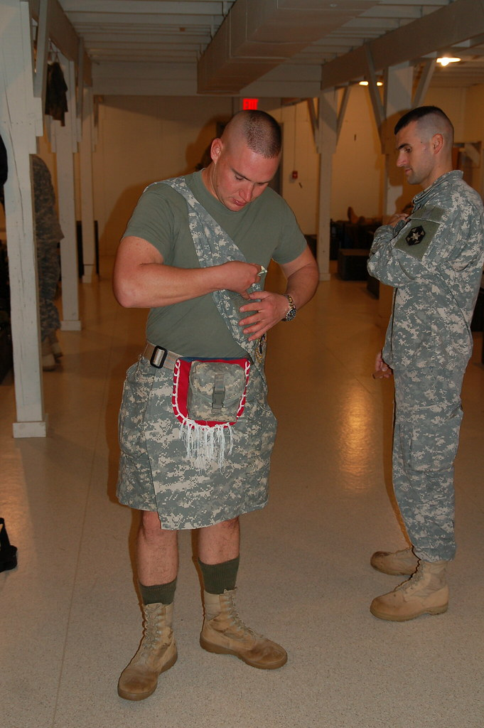 ACU (army combat uniform) material, custom made kilt / tra… | Flickr