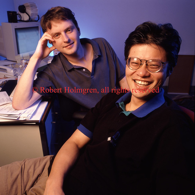 Yahoo founders David Filo and Jerry Yang