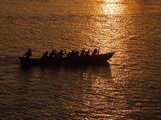 Dragonboat at Sunset