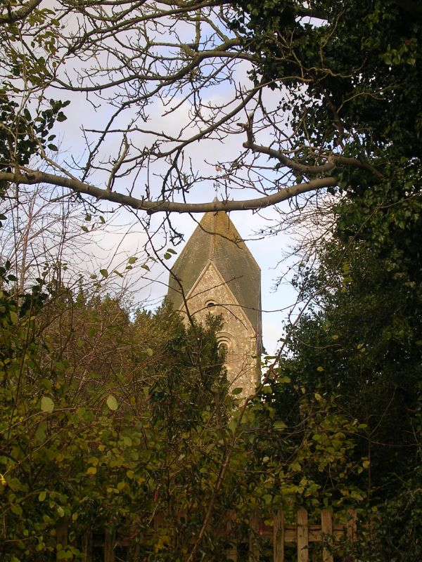 Hawkley church tower Petersfield to Liss