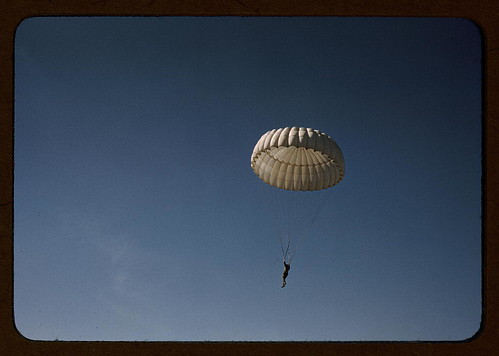 Marine parachuting at Parris Island, S.C.  (LOC) | by The Library of Congress