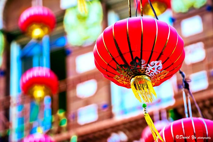 Lantern at day light Chinatown San Francisco
