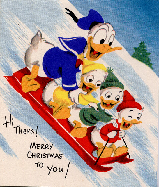 Donald Duck Christmas.Donald Duck Vintage Xmas Card Profkaren Flickr