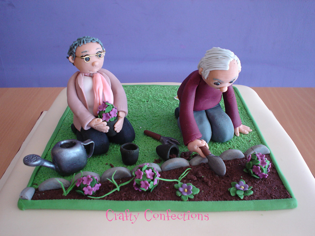 Prime 80Th Birthday Garden Cake Topper Close Up Of The Topper On Flickr Funny Birthday Cards Online Alyptdamsfinfo
