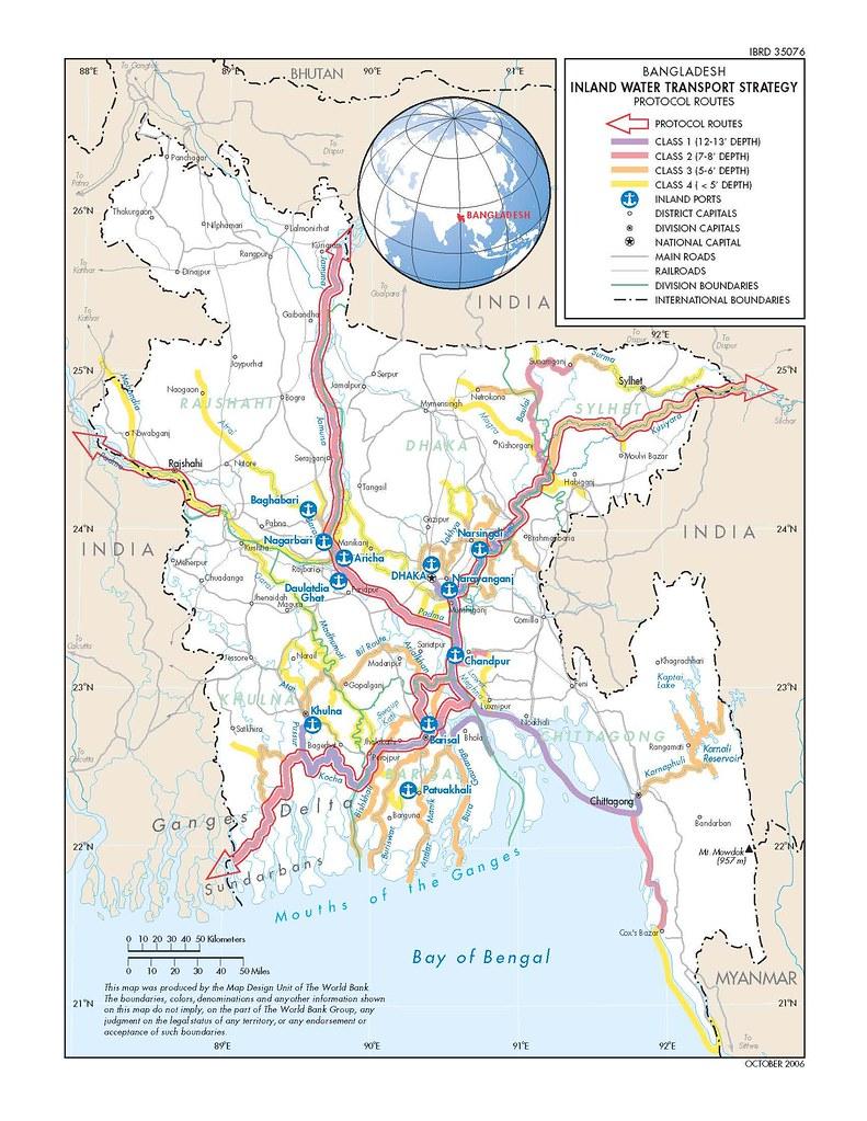 Bangladesh Inland Water Transport Map Zahidul Islam