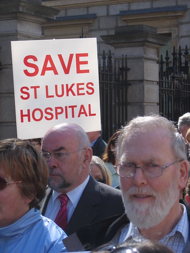 Ruairi Quinn St Luke's Hospital Protest   by The Labour Party