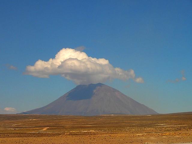 Active Volcano in Peru