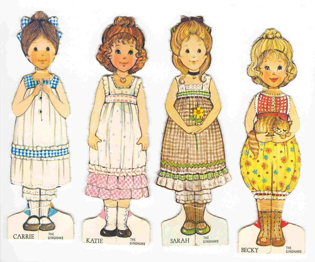 """Image result for gingham paper dolls"""""""