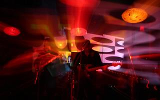 Space Rock Band Simply Saucer in Dan Zen Tilator Light Show at Ciao Edie in Toronto With Zoom Long Exposure | by Dan Zen