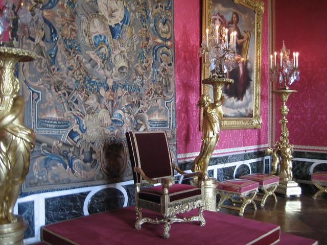 King's Throne in Château de Versailles