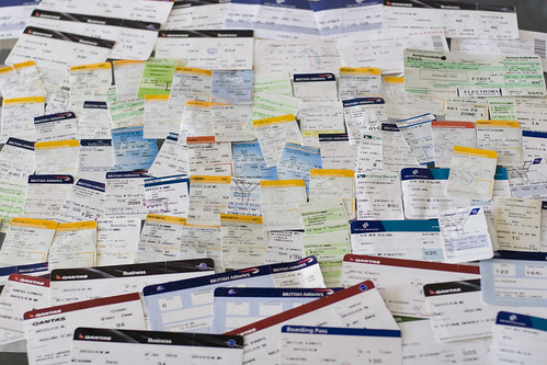 A year in boarding passes | by kjd