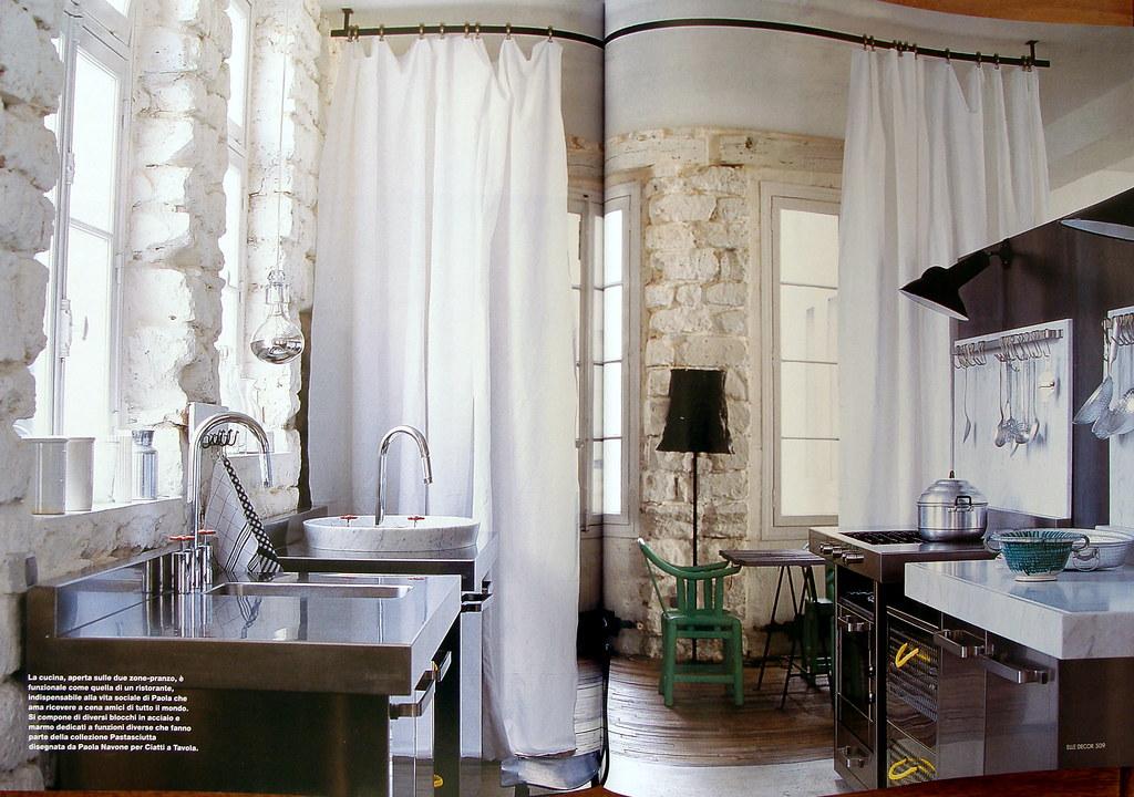 A Parigi da Paola Navone | Cucina Bianca: ELLE DECOR Magazin ...