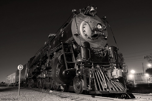california blackandwhite canon outdoors nightimages steam socal nightshots canondslr fullerton locomotives atsf fullertoncalifornia alltrains intothedarkness betterinblackandwhite overtheexcellence atsf3751 californiafullerton alltypesoftransport aphotographersnature monochromaticvisions