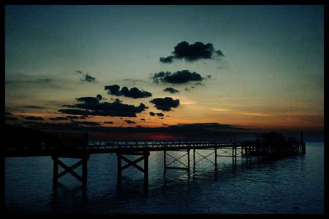 After the sun has gone - Totland Pier, Isle of Wight