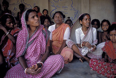 Women attend a community meeting | by World Bank Photo Collection