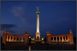Heroes Square.. at night..