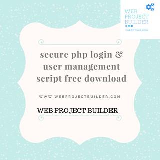 secure php login & user management script free download (1)