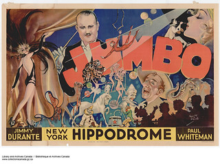Jumbo at the New York Hippodrome featuring Jimmy Durante and the Paul Whiteman Orchestra / Jumbo à l'hippodrome de New York, mettant en vedette Jimmy Durante et l'orchestre de Paul Whiteman