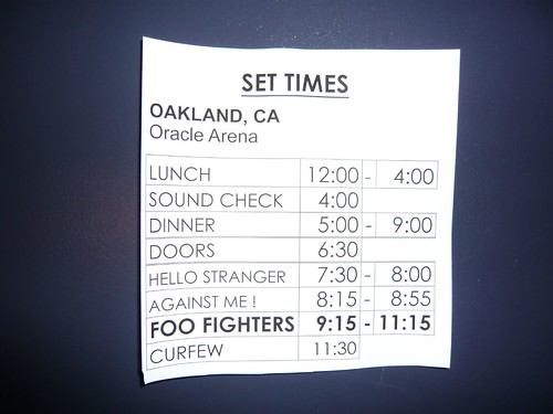 Set Times | by cwgoodroe