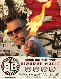 Brian Brushwood promo photo poster Fire Eating | by shwooddotcom